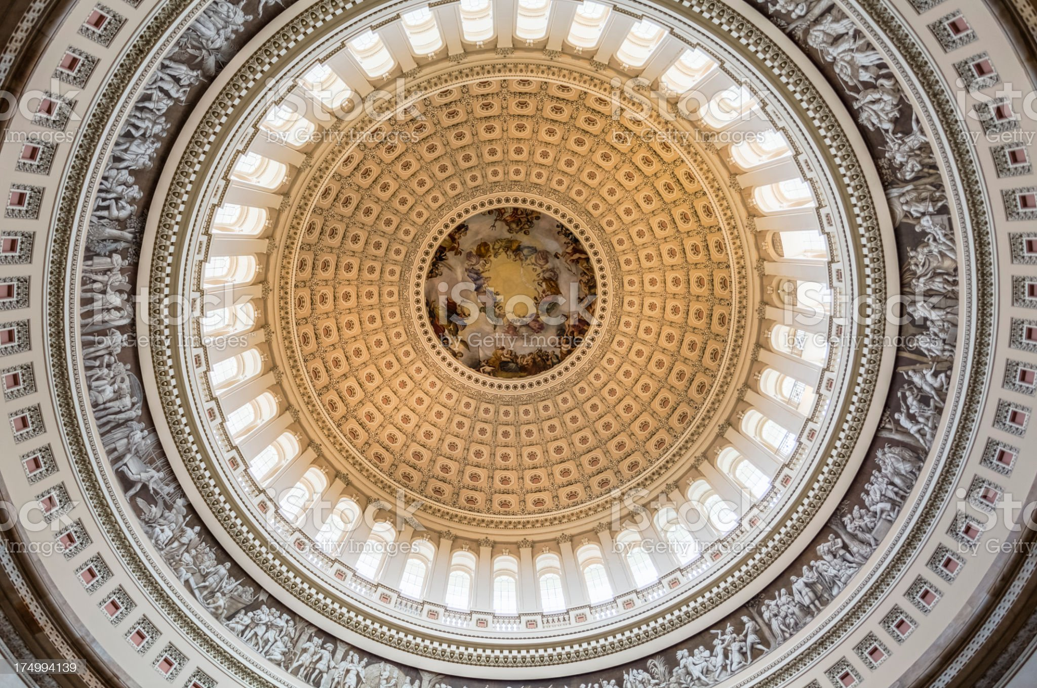 United States Capitol Dome royalty-free stock photo