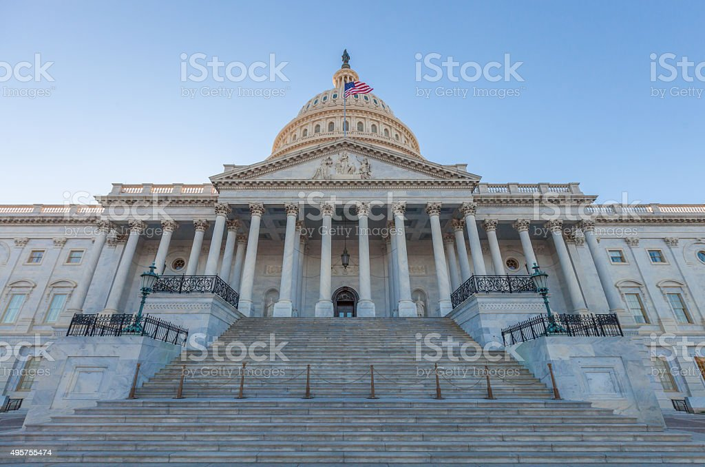 United States Capitol East Facade Front stock photo