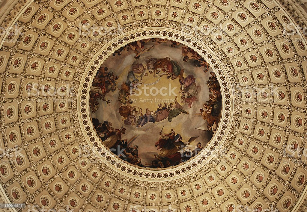 United States Capitol rotunda artwork royalty-free stock photo