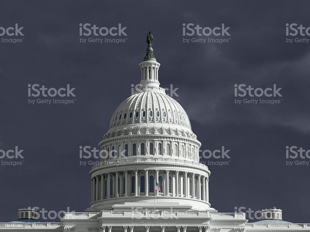 United States Capitol Thunderstorm royalty-free stock photo