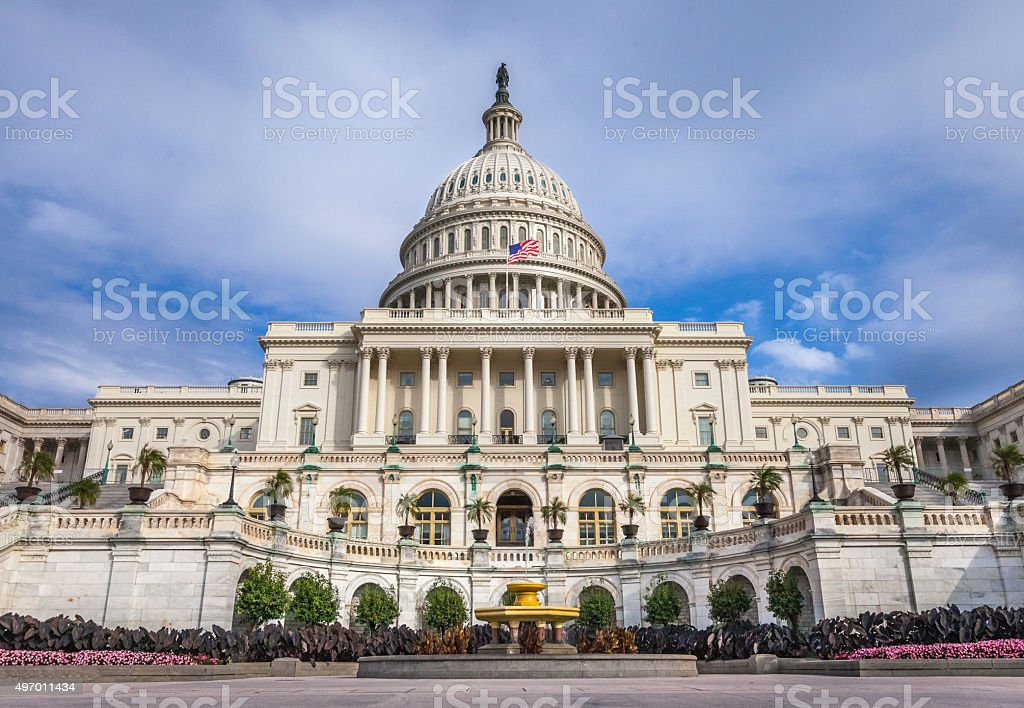 United States Capitol West Facade in Summer stock photo