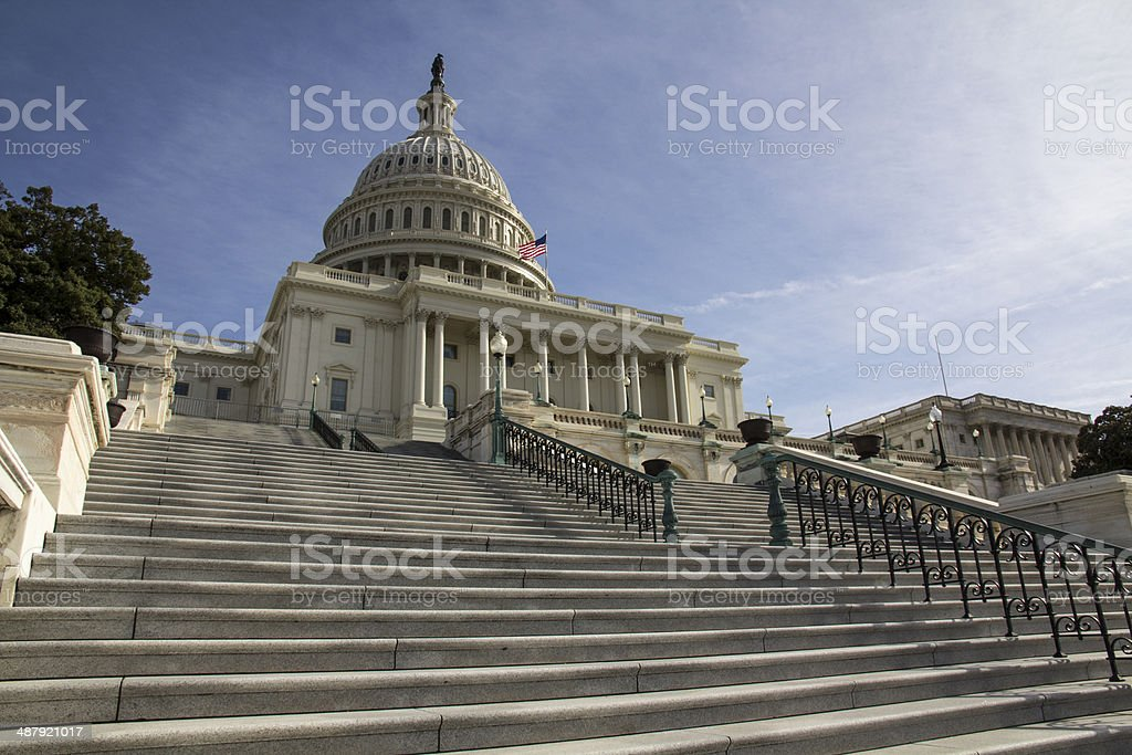 United States Capitol - West Face stock photo