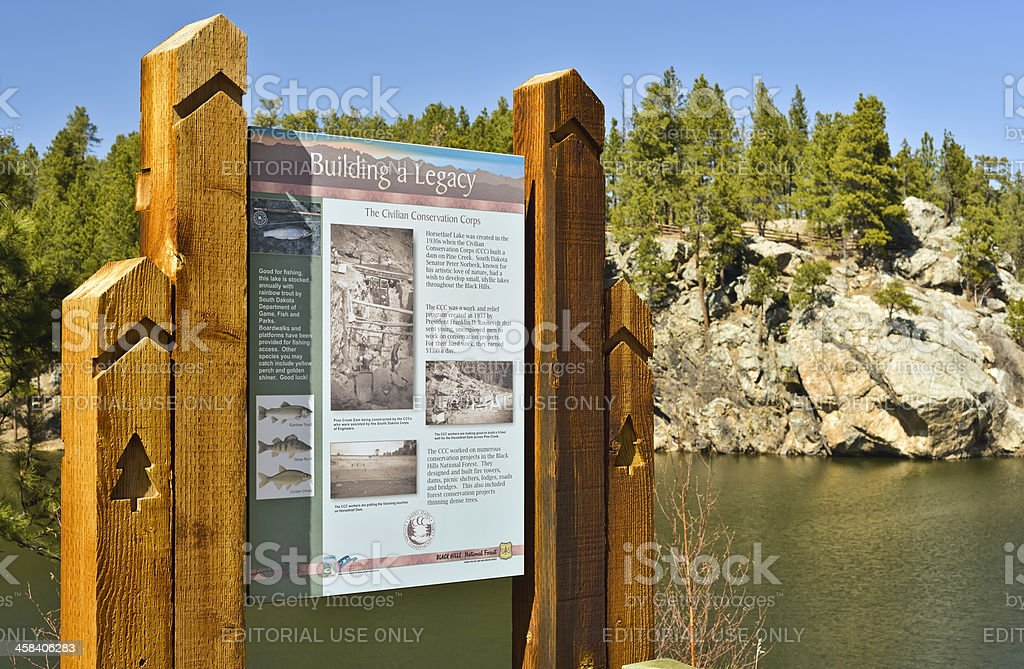United States Civilian Conservation Corps royalty-free stock photo