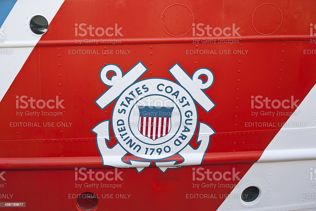 United States Coast Guard Emblem stock photo