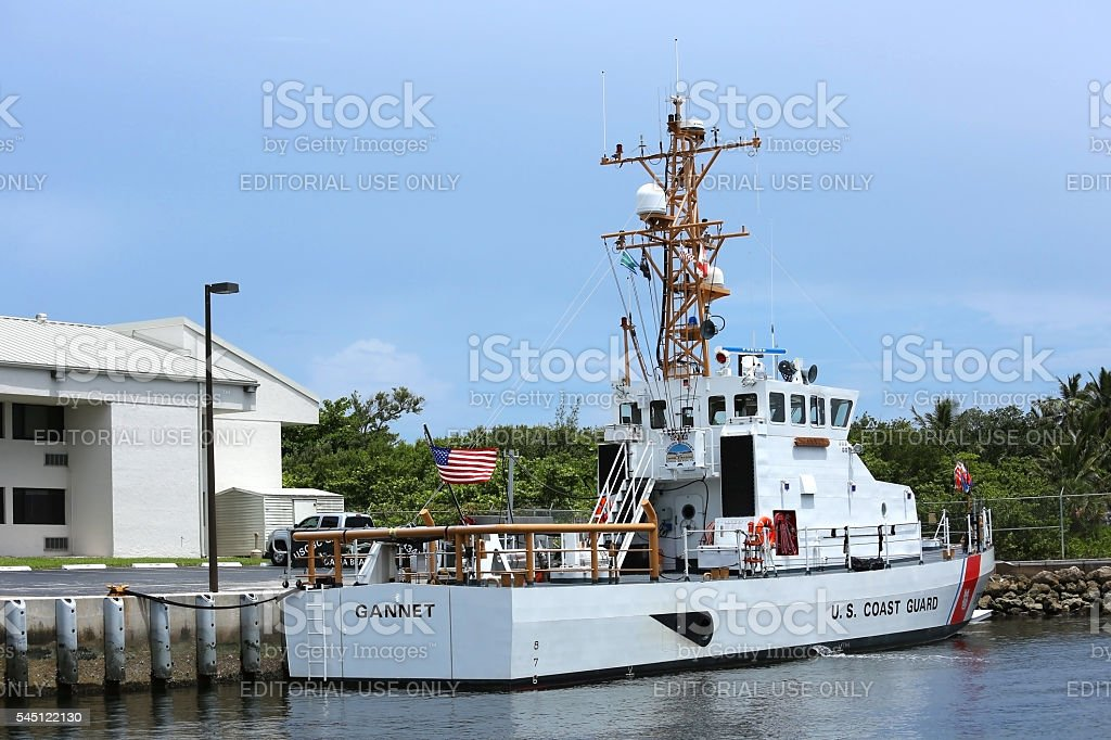 United States Coast Guard Ship, the Gannet stock photo