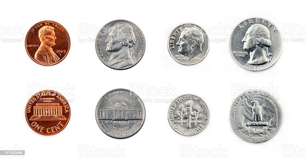 United States Coins stock photo