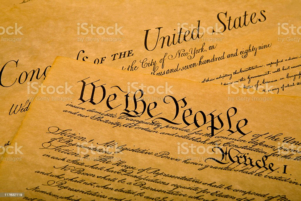 United States Constitution royalty-free stock photo