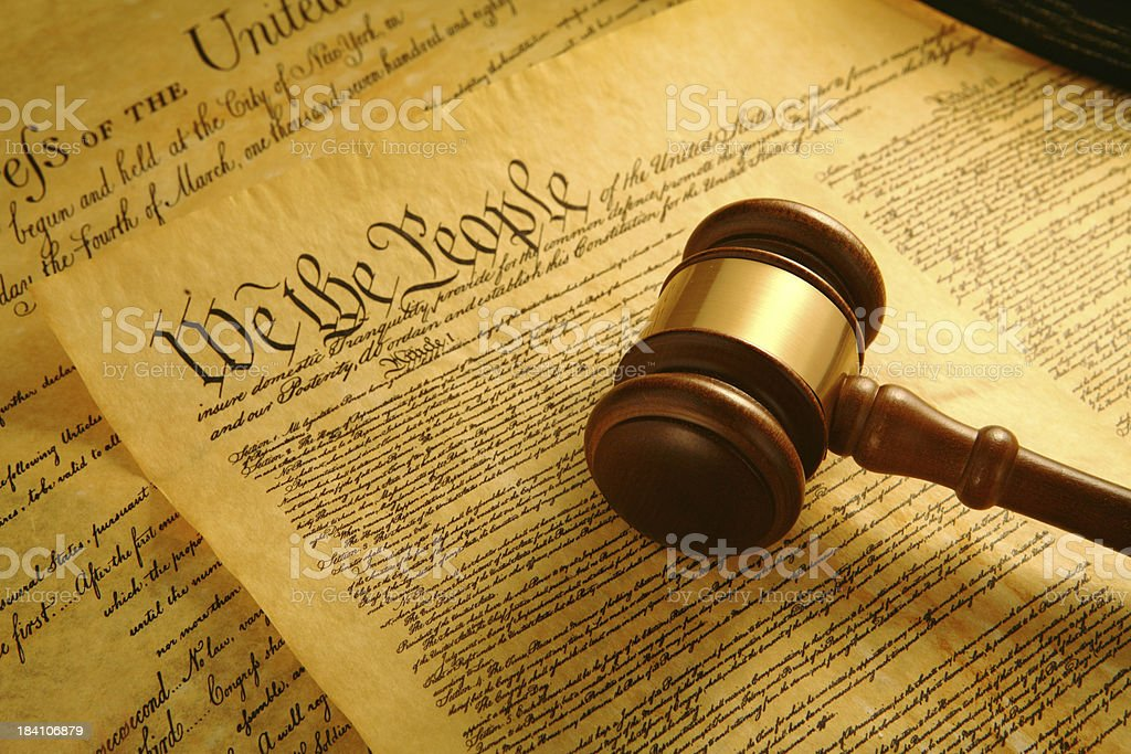 United States Constitution stock photo