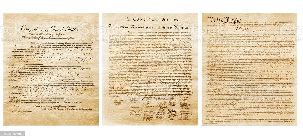 United States Constitution stock photo