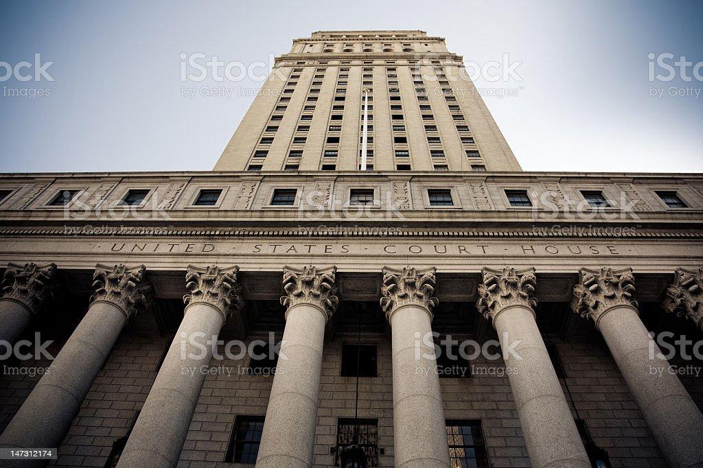 United States Court House, New York City royalty-free stock photo