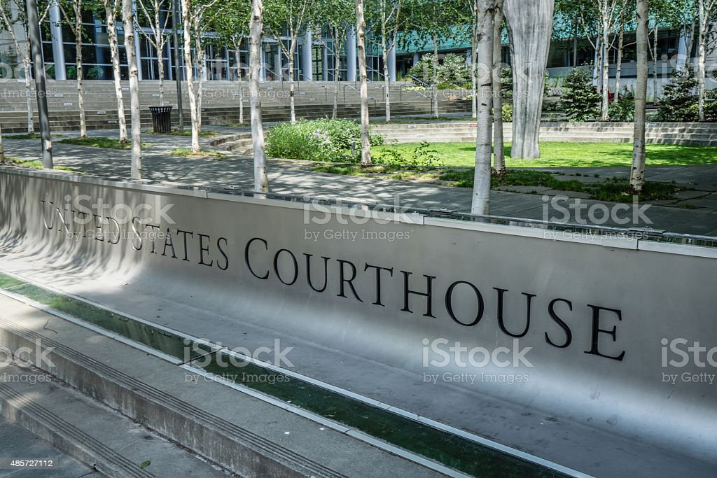 United States Courthouse Sign stock photo