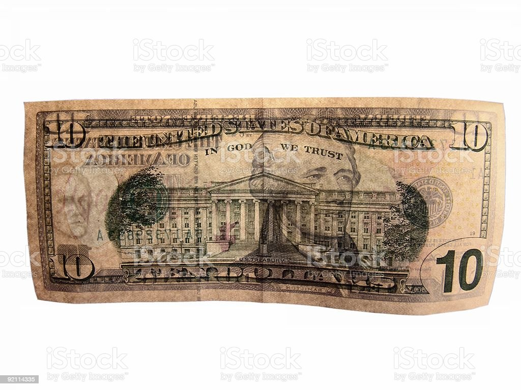 United States Currency Watermark stock photo