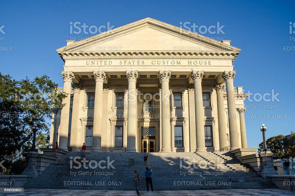 United States Custom House in Historic Charleston, South Carolina stock photo