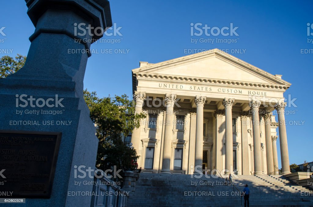 United States Custom House in Historic Charleston, South Carolina stock photo