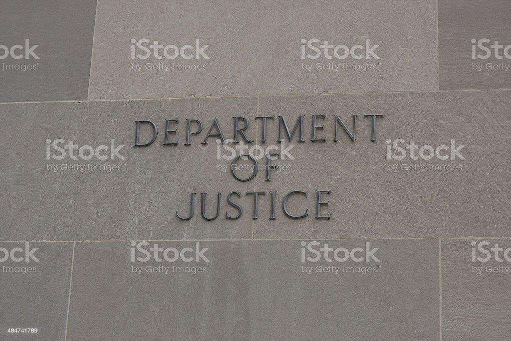 United States Department of Justice Building stock photo