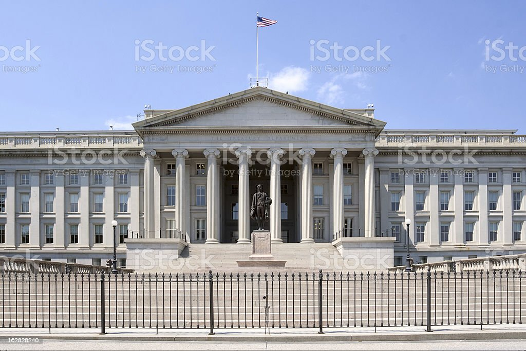 United States Department of the Treasury stock photo