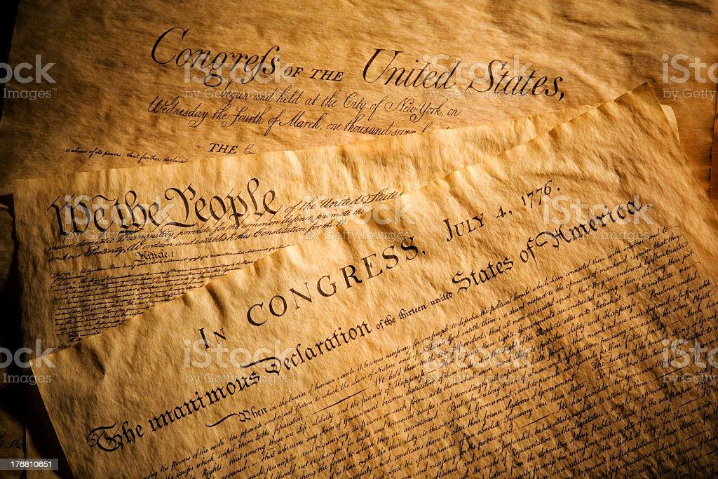 United States Documents stock photo
