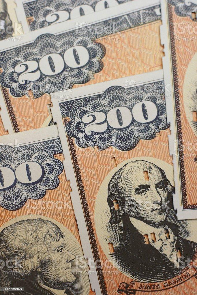 United States EE Savings (Treasury) Bonds - Vertical Closeup stock photo