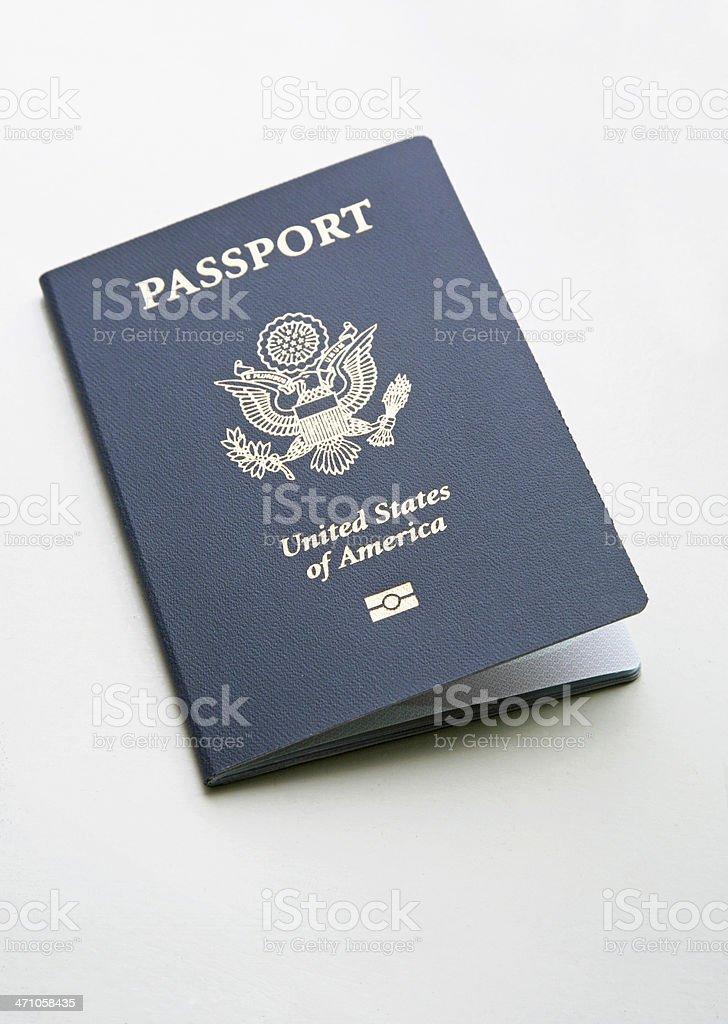 United States E-Passport stock photo