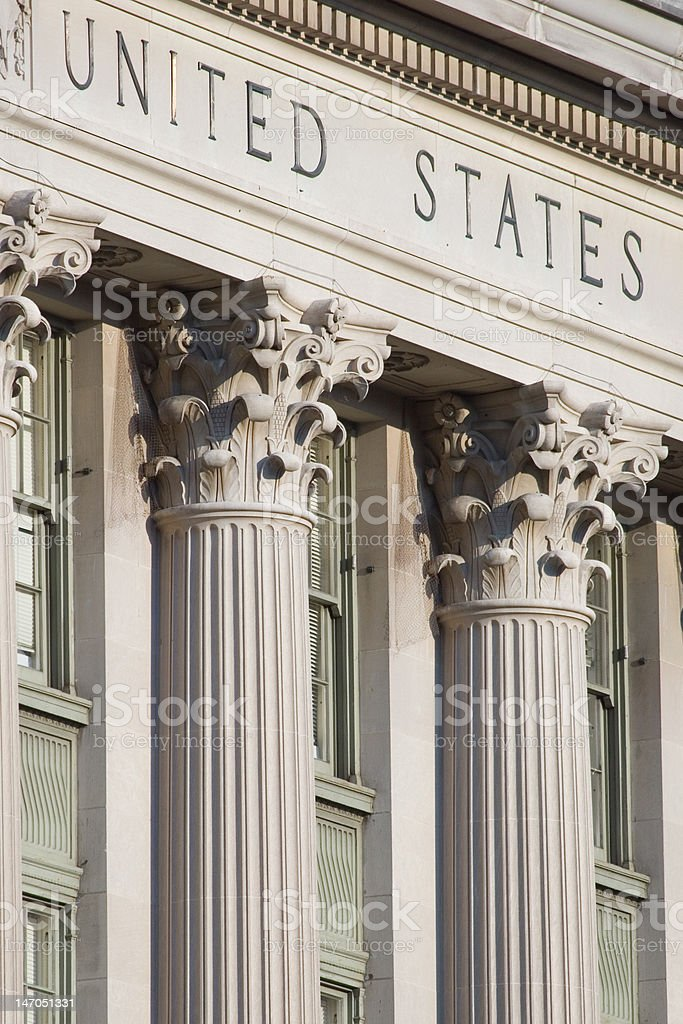 United States Federal Building stock photo