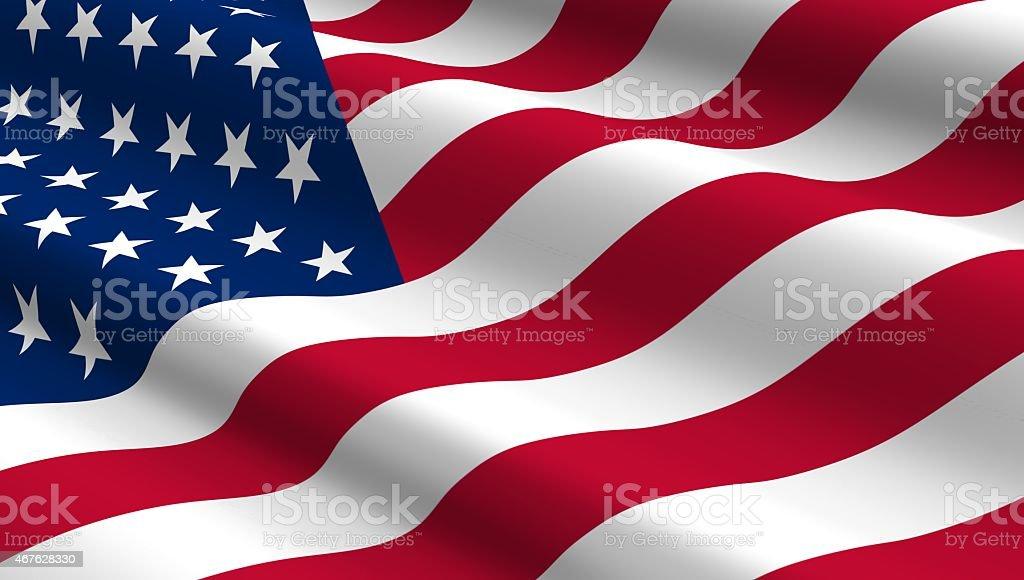 United States flag background. stock photo