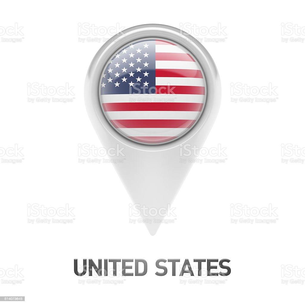 United States Flag Icon stock photo