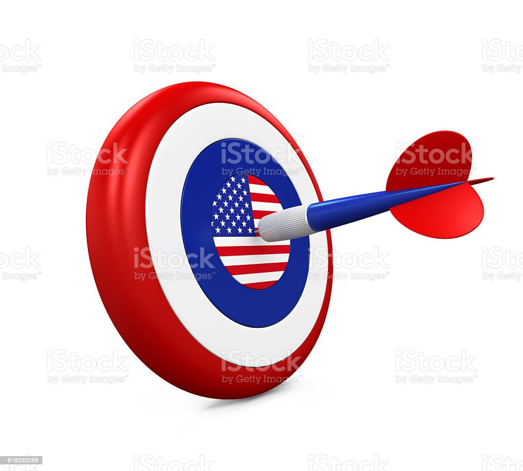 United States Flag in Darts stock photo