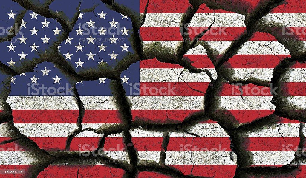 United States flag. stock photo