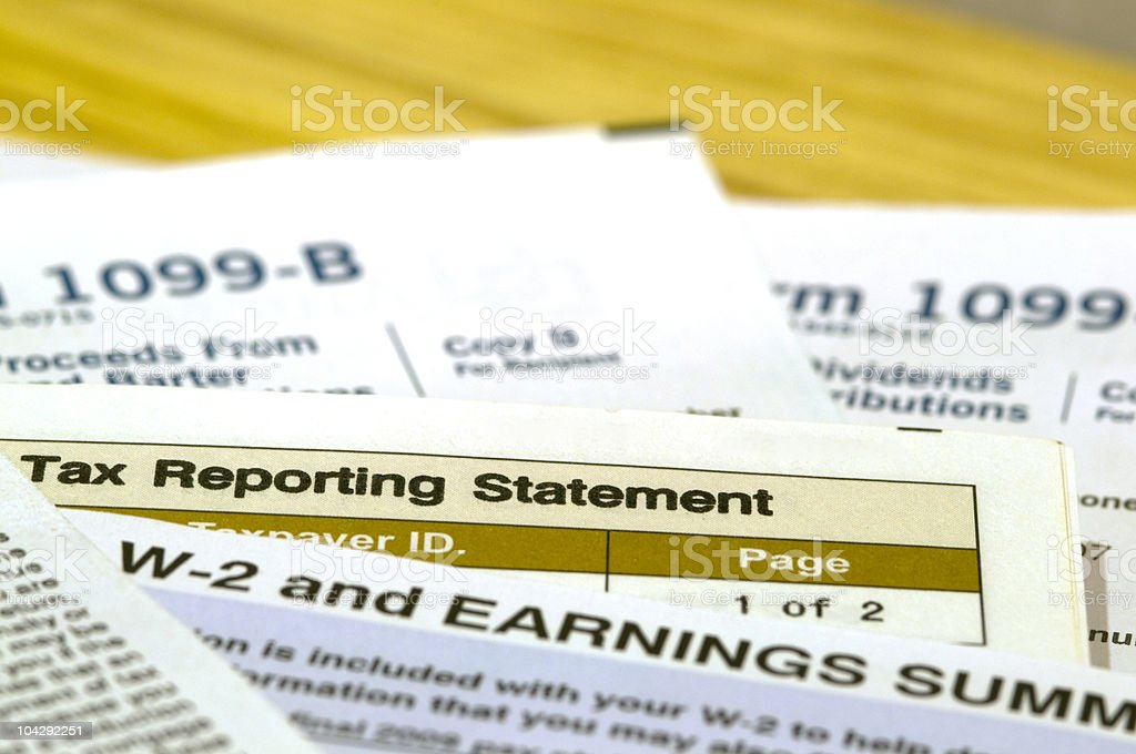 United States Income Tax Documents royalty-free stock photo