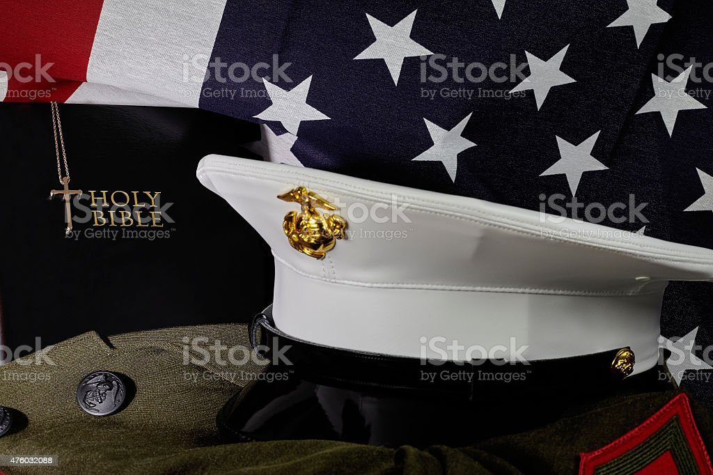 United States Marine Corps American Faith and Spirit stock photo