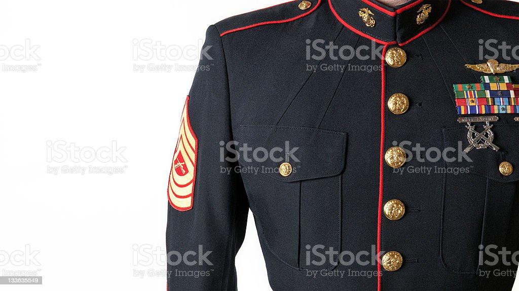 United States Marine Corps Dress Blues Uniform royalty-free stock photo