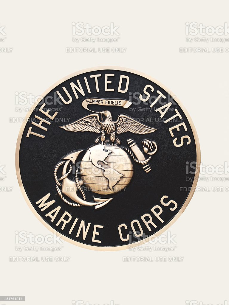 United States Marines  emblem stock photo