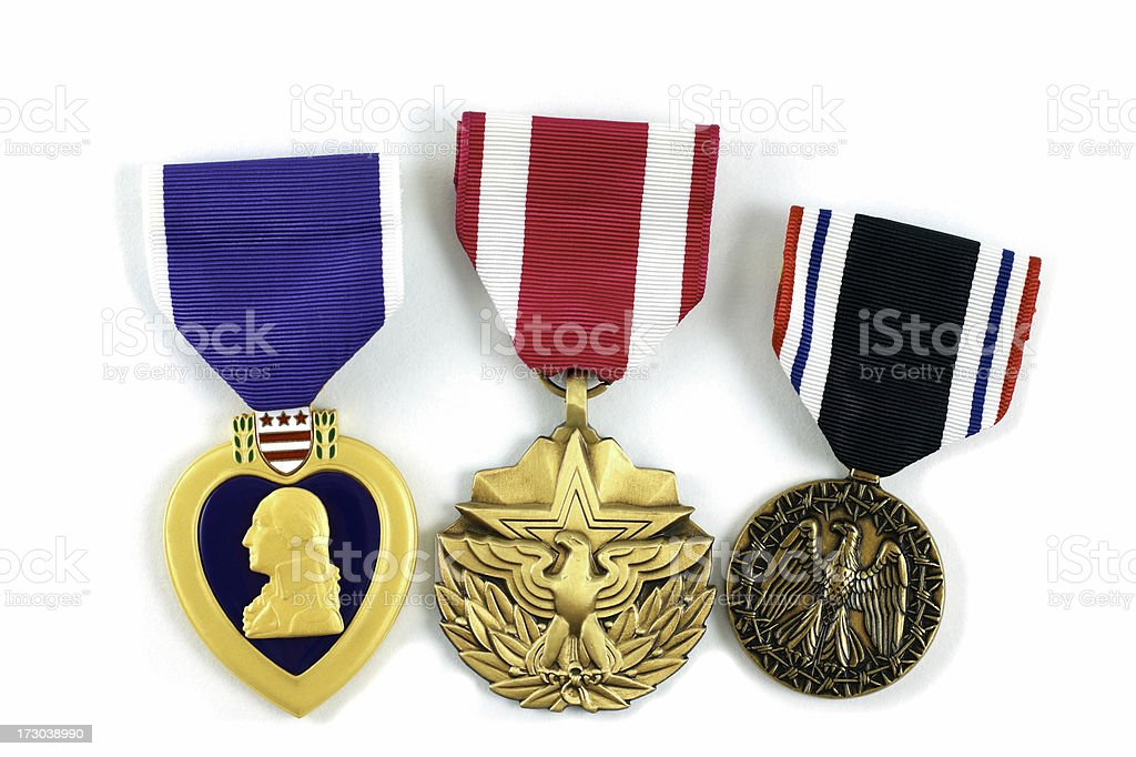 United States Military Medals stock photo