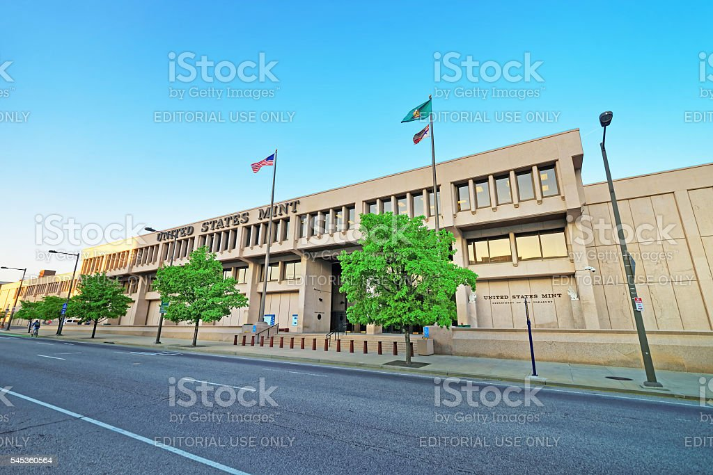 United States Mint Building of Philadelphia PA stock photo