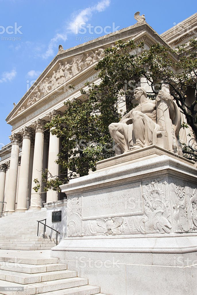 United States National Archives building in Washington DC royalty-free stock photo