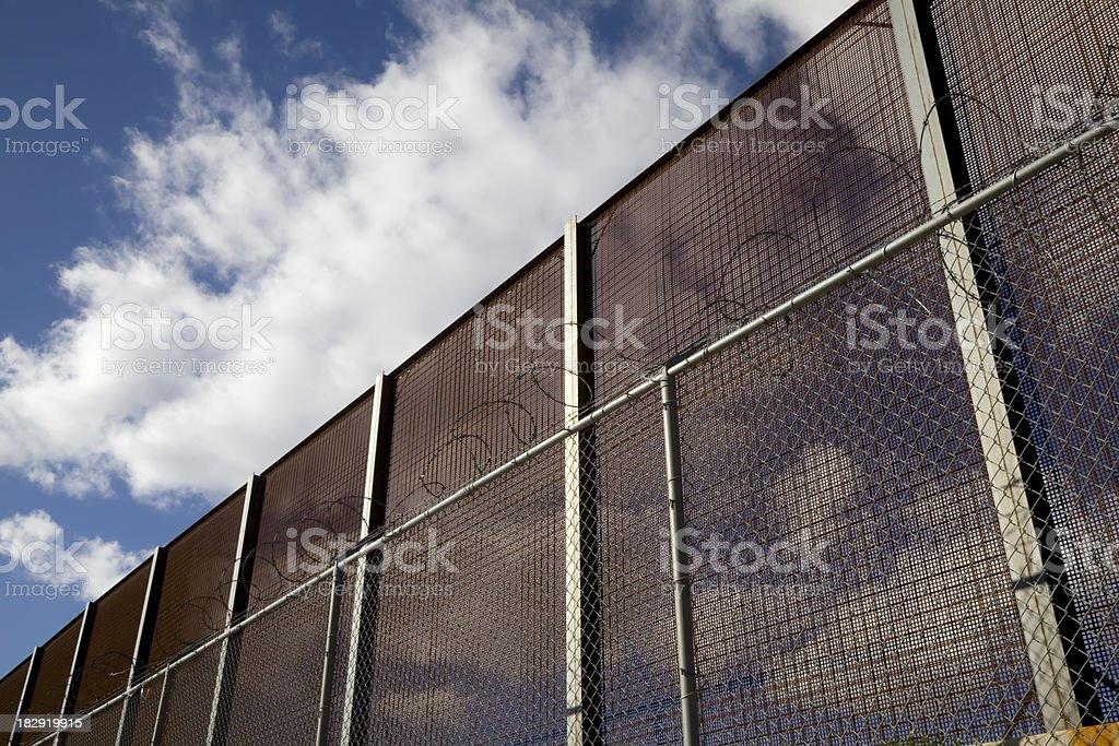 United States National Border Fence royalty-free stock photo