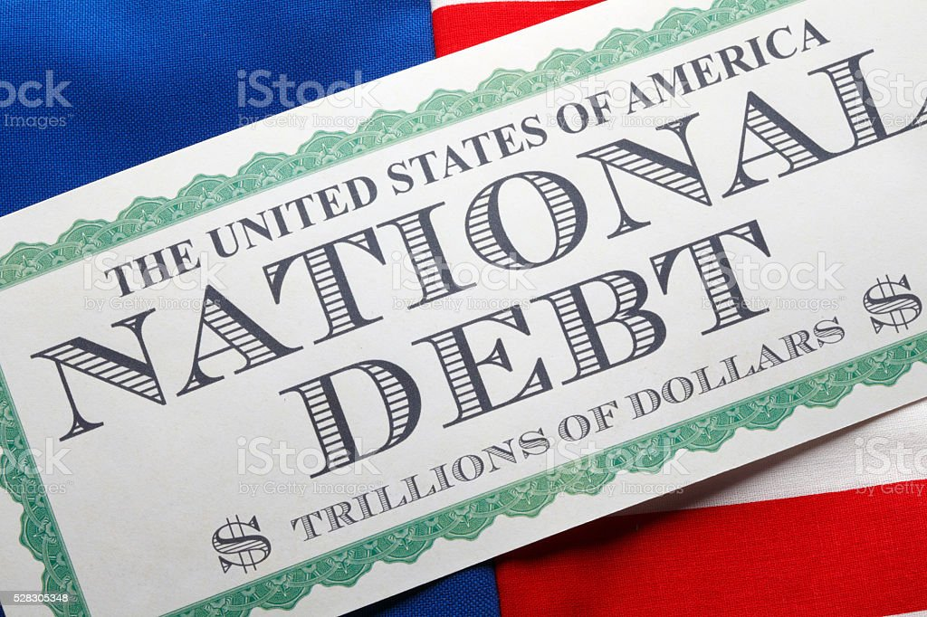 United States National Debt Concept stock photo