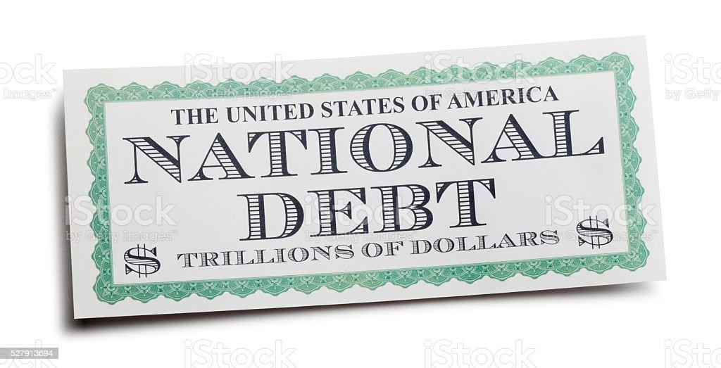 United States National Debt stock photo