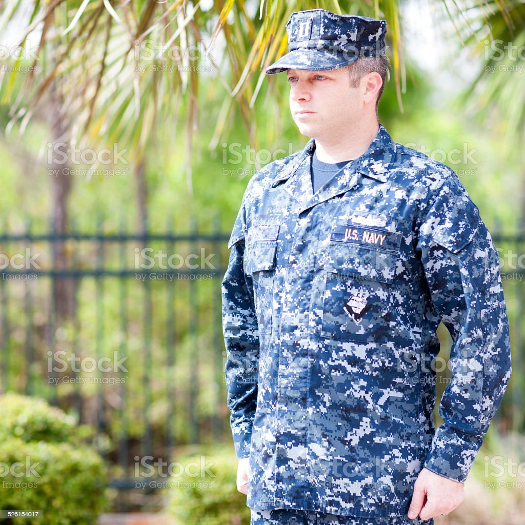 United States Naval Lieutenant stock photo