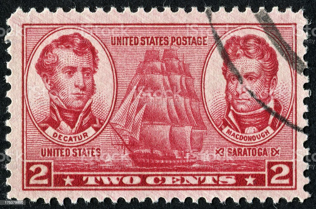 United States Navy Stamp stock photo