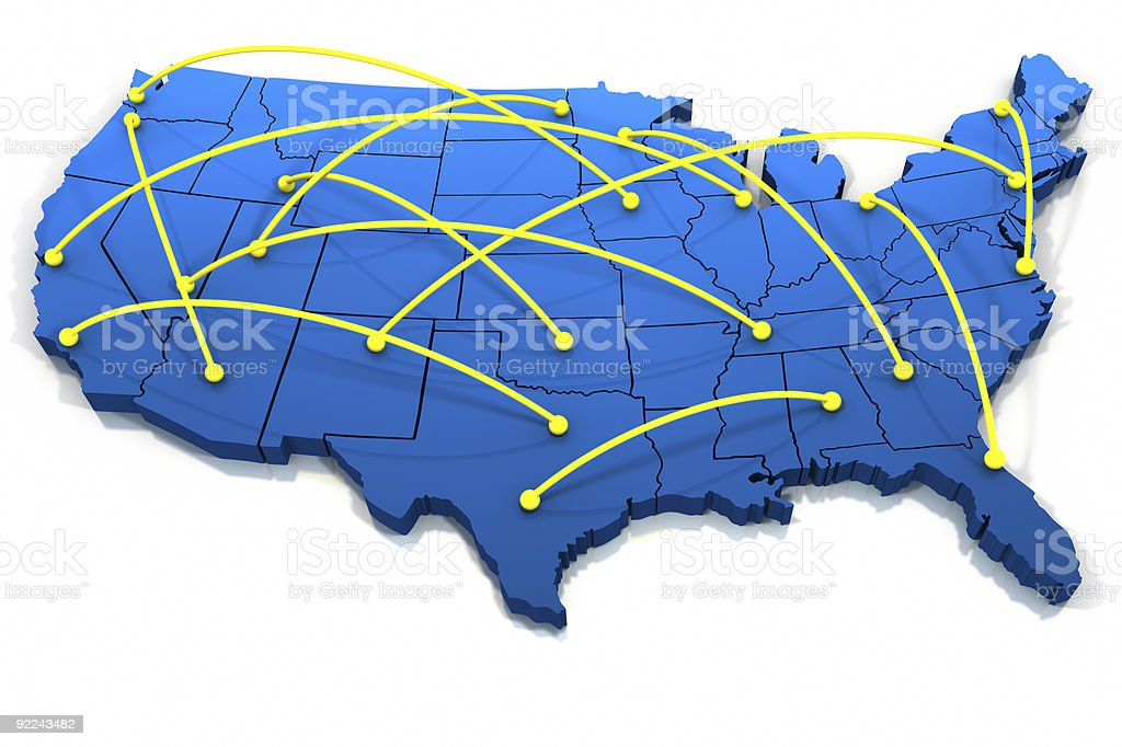 United States networking lines stock photo