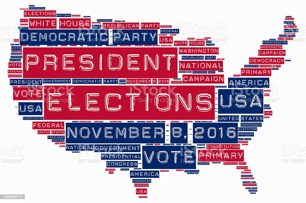 United States of America elections 2016 stock photo