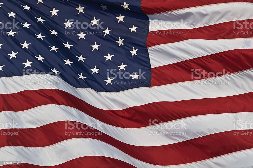 United States of America flag. stock photo