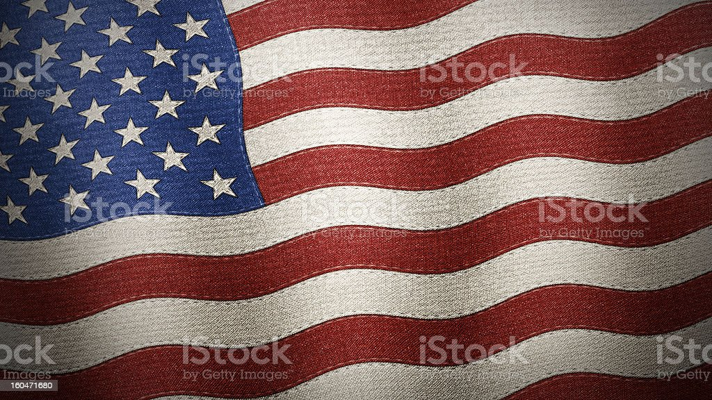 United States of America flag textured - Illustration royalty-free stock photo