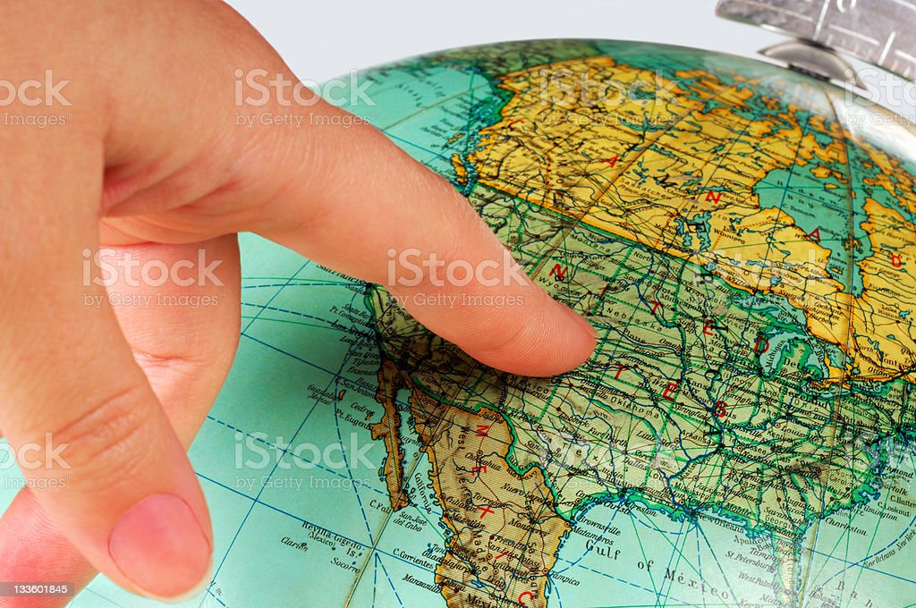 United States on the globe royalty-free stock photo