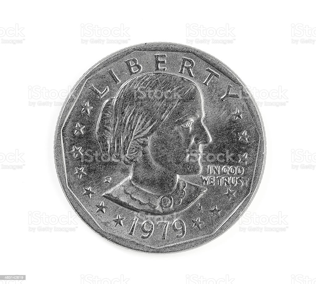 United States one dollar coin stock photo