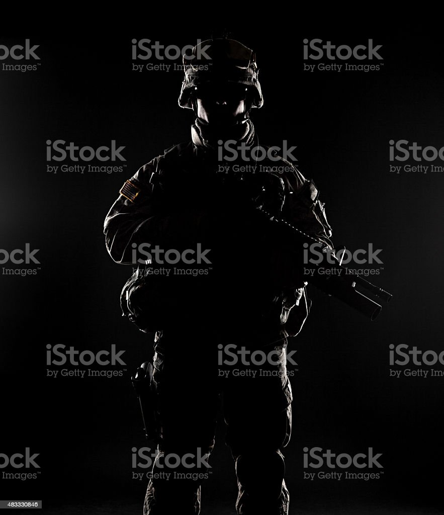 United States paratrooper stock photo