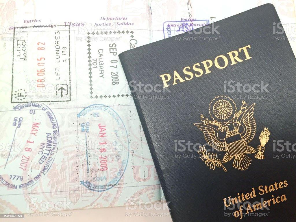 United States Passport stock photo