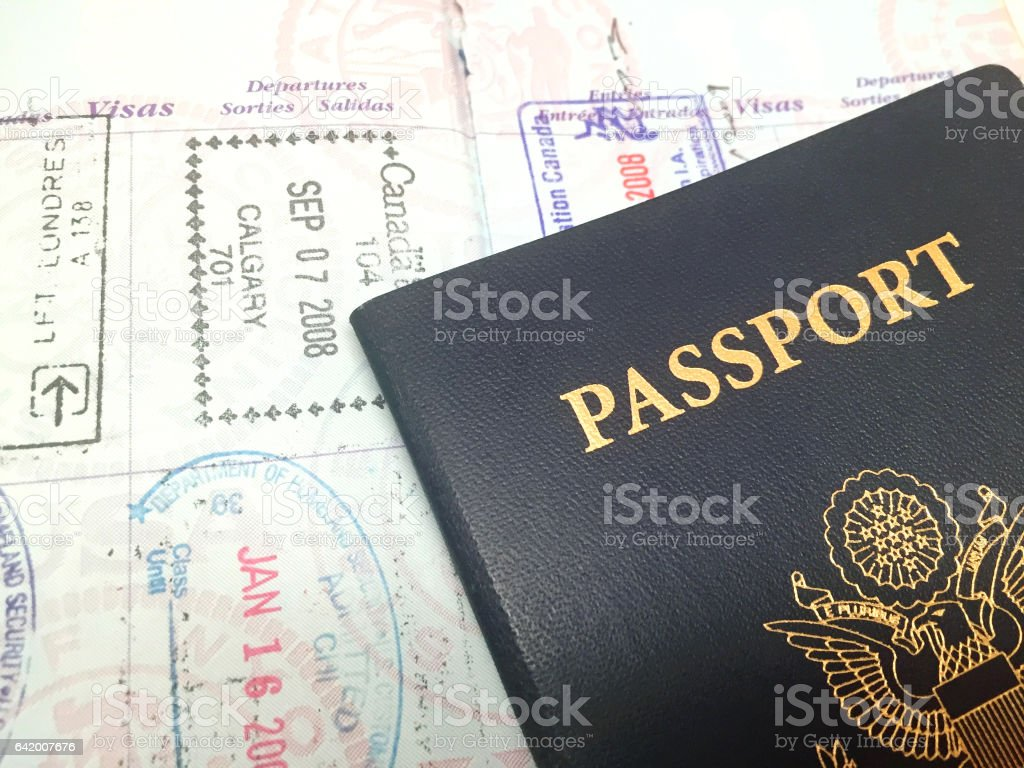 United States Passport stock photo