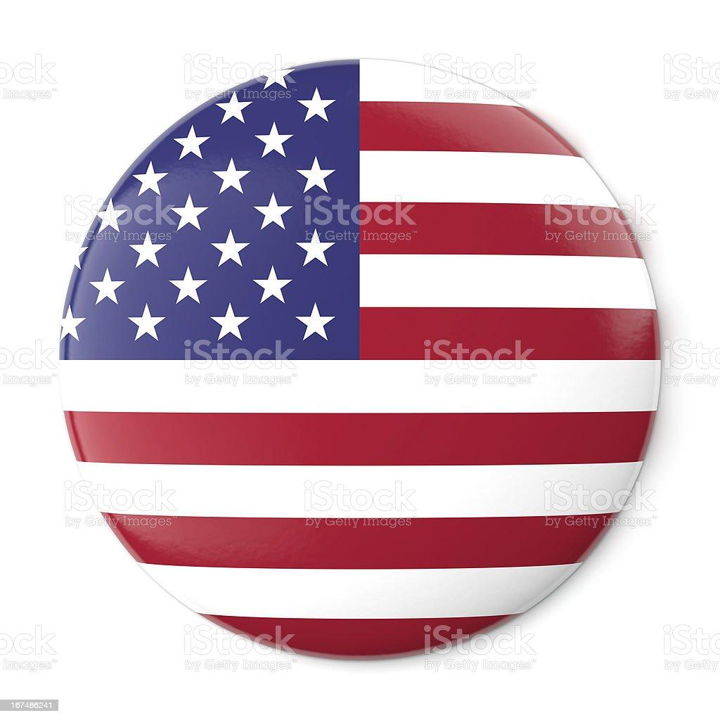 United States Pin-back stock photo